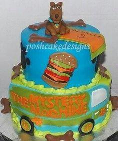 Scooby doo birthday cake. Mystery machine cake #scoobydoo #poshcakedesigns.com #birmingham al