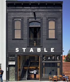 Stable Cafe » 2128 Folsom Street (@ 17th). I've only ever had the cappuccino and it's pretty good! There's a quiet upstairs seating area and some tables out back.