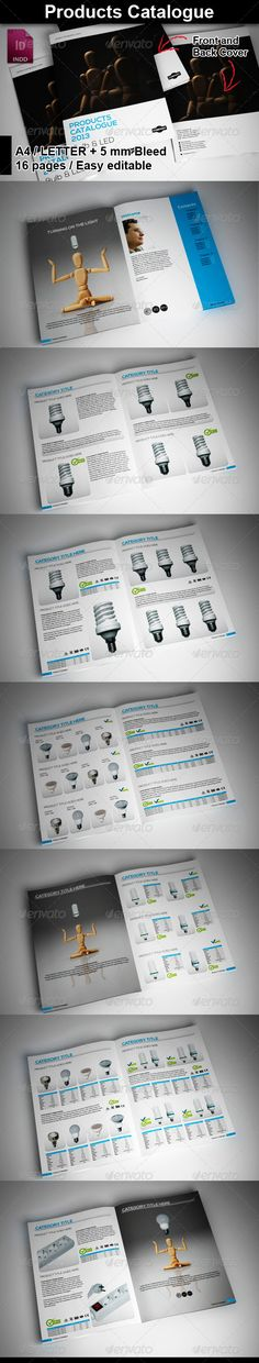 brochure, catalog, catalogue, product brochure, product catalog, product catalogue, products brochure, products catalogue, print-templates, brochures, catalogs Products Catalogue Content: 2 InDesign file with 16 pages predefined. / 210×297 A4 mm + 5 mm bleed and Letter format. 1 PSD file – you can change this linked file in your InDesign by pressing CTRL+D (or CMD+D on mac) to change the photos for each photo frame. 1 Instruction file. Information Indd file includes: – Predefined color...