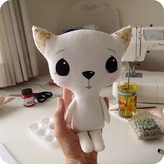 cloth kitten by Gingermelon, via Flickr