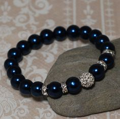 Hey, I found this really awesome Etsy listing at https://www.etsy.com/listing/206290823/stretch-shamballa-bracelet-dark-blue