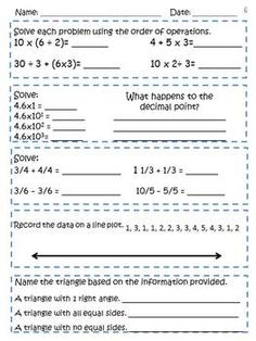 Worksheets 5th Grade Common Core Math Worksheets pinterest the worlds catalog of ideas 5th grade math common core weekly daily review warm ups 4
