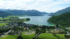 Panorama über Strobl Strand, Golf Courses, Public, River, Outdoor, Alps, Water, Outdoors, Outdoor Games