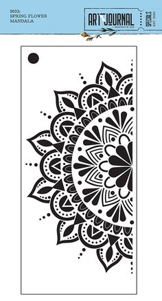 Capture their attention with beautiful artwork when you create with the Spring Flower Mandala Stencil by Elizabeth Craft Designs. Included in the package is one Mandala Doodle, Mandala Art Lesson, Mandala Stencils, Mandala Artwork, Mandala Drawing, Mandala Canvas, Printable Stencil Patterns, Stencil Templates, Mandala Printable