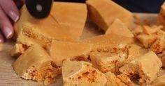 Tire-éponge maison – tellement simple et tellement délicieux! Good Food, Dairy, Cheese, Simple, Gummi Candy, Cooking Food, Recipes, Home, Healthy Food