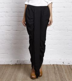 Black Crepe Dhoti Pants - Really tempted to try these!