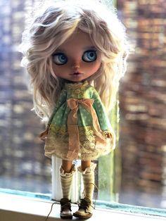 RESERVED Prosím nekupujte Blythe Custom Doll Sky od