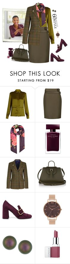 """60-Second Style: Job Interview"" by lence-59 ❤ liked on Polyvore featuring Maison Margiela, 3.1 Phillip Lim, Ted Baker, Narciso Rodriguez, Allegra, Prada, Olivia Burton, Majorica, Clinique and jobinterview"