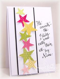WT467 Stitched Stars by bfinlay - Cards and Paper Crafts at Splitcoaststampers