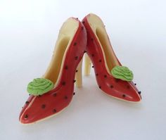 small chocolate shoes strawberry and cream by clifton cakes | notonthehighstreet.com