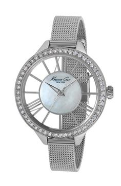 Kenneth Cole New York Crystal Bezel Transparent Dial Watch, 40mm available at #Nordstrom