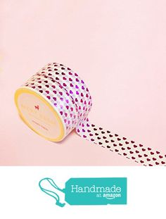 Heart Shapes in Pink Foil Washi Tape for Planning • Scrapbooking • Arts Crafts • Office • Party Supplies • Gift Wrapping • Colorful Decorative • Masking Tapes • DYI from Mery Keem https://www.amazon.com/dp/B071GBTJNG/ref=hnd_sw_r_pi_dp_7YDIzbSKZ9F18 #handmadeatamazon