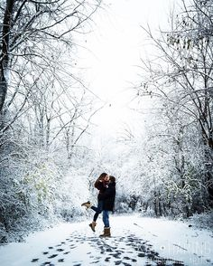 Winter Engagement Photos • Kat Haring Photographic Artist