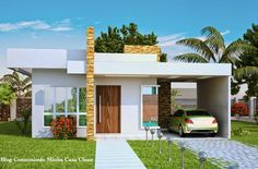 Pequenas, mas muito modernas e estilosas!     Quem disse que casinha pequena tem que ser simples? A arquitetura moderna hoje nos permi...