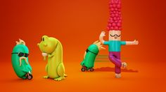 Nick ID's by Ronda , via Behance 3d Character, Character Design, Cute Characters, Fictional Characters, 3d Typography, Inspirational Artwork, Motion Graphics, Behance, Animation