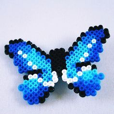 Butterfly hama beads by pixelartland
