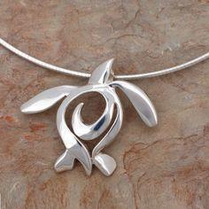 Sea Turtle Pendant Necklace | Ocean Traveler | Big Blue Jewelry