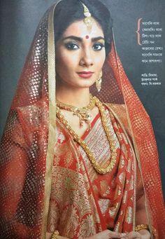 bangla bengali bride sananda Bengali Wedding, Bengali Bride, Desi Wedding, Saree Wedding, Wedding Attire, Wedding Wear, Indian Braids, Indian Look, Indian Wear