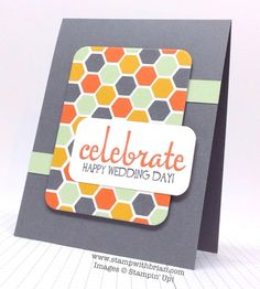 Stampin' Up! ... hadmade card from Brian King ... clean lines ... two panels with rounded corners ... patterned paper ... big sentiment panel ... like it!