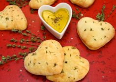 """I Love You Focaccia Bread - It will make all your """"sweeties"""" smile. And so easy to make, using the Artisan Bread in Five Minutes a Day technique!"""