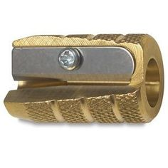 Alvin knurled brass pencil sharpener: $4.50 just about everywhere