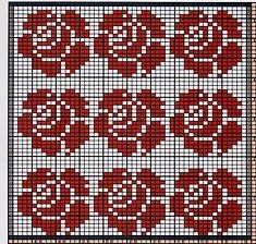 Ravelry: Potholder Rose Petals pattern by Regina Schoenfeldt Small Cross Stitch, Cross Stitch Bird, Cross Stitch Alphabet, Cross Stitch Flowers, Cross Stitch Embroidery, Wedding Cross Stitch Patterns, Disney Cross Stitch Patterns, Modern Cross Stitch Patterns, Cross Stitch Designs