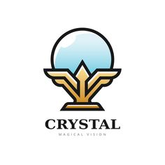 Exclusive logo of a magical crystal ball. This awesome logo will be perfect for your company or project ! All neccessary files are included (Illustrator and Photoshop). Home Symbol, Title Font, Symbol Logo, Cool Logo, Crystal Ball, Fonts, Logo Design, Photoshop, Symbols