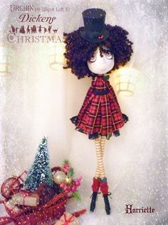 Harriette Urchin Art Doll by Vicki at Lilliput Loft