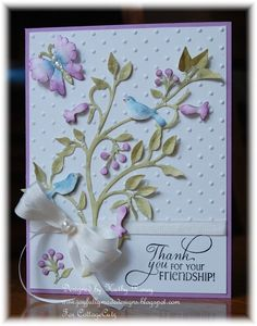 Garden Thank You - CottageCutz Dies I am sure I have Memory Box dies that will look just the same