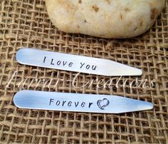 Personalized Collar Stays  men's gift groomsmen by FarrarCreations, $20.00