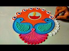 30 super ideas for crochet edging easy projects Mehandi Designs, Rangoli Designs Latest, Rangoli Designs Diwali, Rangoli Designs Images, Diya Rangoli, Peacock Rangoli, Flower Rangoli, Rangoli 2017, Small Rangoli Design