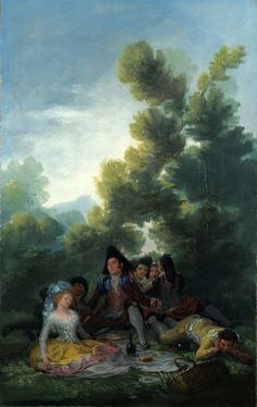 https://flic.kr/p/hY7P84 | A Picnic | 1785-1790. Oil on canvas. 41,3 x 25,8 cm. National Gallery, London. 1471.