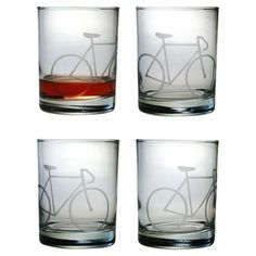 Look at this Bicycle Rocks Glass - Set of Four by Susquehanna Glass Gifts For Dad, Great Gifts, Old Fashioned Glass, Quirky Gifts, Bicycle Design, Bicycle Decor, Bicycle Art, Pint Glass, Glasses