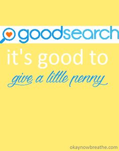 Giving back to the community is  important. See how Goodsearch makes it so easy to donate | okaynowbreathe.com