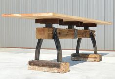Post & Beam Rustic Industrial Bar Height by IndustrialFarmHouse