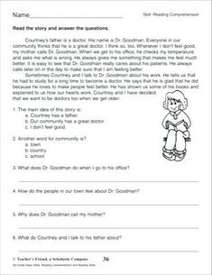 Use this reading comprehension passage to have learners practice reading a story and answering questions about main idea, details, making inferences and drawing conclusions. 3rd Grade Reading Comprehension Worksheets, Reading Comprehension Passages, Reading Fluency, Comprehension Questions, Reading Skills, Reading Response, Teaching Reading, Third Grade Reading, Second Grade