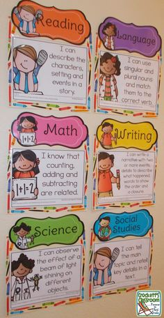 displays Daily Objective display with plastic sleeves and scrapbook paper.Daily Objective display with plastic sleeves and scrapbook paper. Learning Objectives Display, Classroom Objectives, Kindergarten Classroom Decor, Classroom Organisation, Classroom Rules, Teacher Organization, Classroom Setup, Classroom Displays, Future Classroom