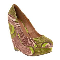 brown & green wedge