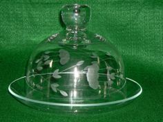 PRINCESS HOUSE CRYSTAL HERITAGE ROUND COVERED BUTTER/CHEESE DISH