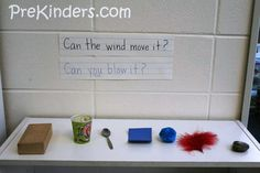 Wind Experiment - use a similar idea with different items and flashlights. Does the light shine through? Light passes through some objects, but not through others. Try with solids, liquids, and gases.