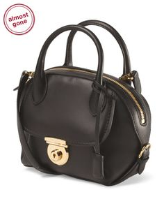 Made In Italy Leather Mini Fiamma Bag