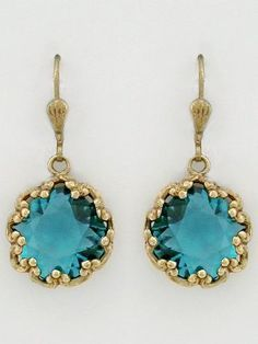 La Vie Parisienne vintage inspired crystal earrings set in antique gold in a variety of crystal colors. Vintage French Earrings Teal are fabulous for bridesmaids, parties and every day wear. Ring Earrings, Crystal Earrings, Amethyst Earrings, Blue Earrings, Jewelry Box, Vintage Jewelry, Teal Jewelry, Jelly Opal, Jeweled Shoes