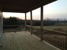 The back porch at sunset. I can taste the wine already.....