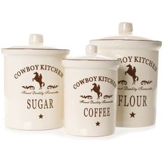 cowboy kitchen canister sets country canister sets for kitchen foter