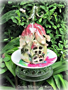 Tulip Cottage Garden Totem Stake  As by GardenWhimsiesByMary, $38.00