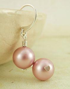 DIY Wedding - Sterling Silver Swarovski Crystal PEARL Earring Kit  -   YOU Pick the Color. $14.00, via Etsy.