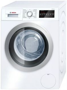 nice Bosch WAT28401UC 500 2.2 Cu. Ft. White Stackable Front Load Washer - Energy Star