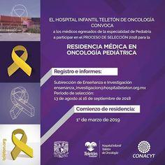 El Hospital Infantil Teletón de Oncología en Querétaro te invita a participar en el proceso de selección para la residencia médica en oncología pediátrica.  #PorqueTuSaludEsPrimero #RegresoSaludable