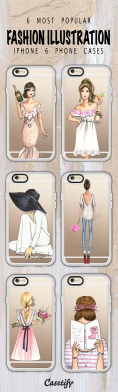 Top 6 fashion illustration iPhone 6 protective phone case designs | Click through to see more iPhone 6 phone case designs >>> https://www.casetify.com/artworks/gQgvYJ137R #chic | @casetify
