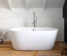 Leoni Freestanding Bath 1490 x - scene square medium Small Freestanding Bath, P Shaped Bath, Bathroom Showrooms, Bathrooms, L Shape, Bathtub, Shower, Scene, Bathroom Ideas